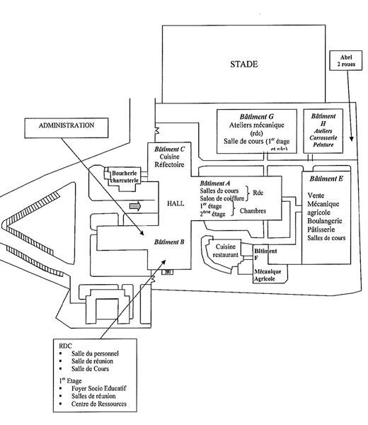 plan du cfai chambre des m tiers et de l 39 artisanat de l 39 aude. Black Bedroom Furniture Sets. Home Design Ideas